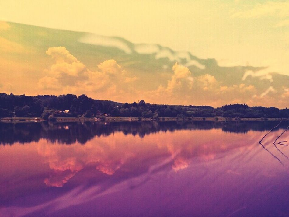 Abstract Landscape Landscape Reflecting In Mirror Water Reflections Color Edit Riverscape Warm Shades Double Exposure Calm Water Tranquil Scene The Innovator