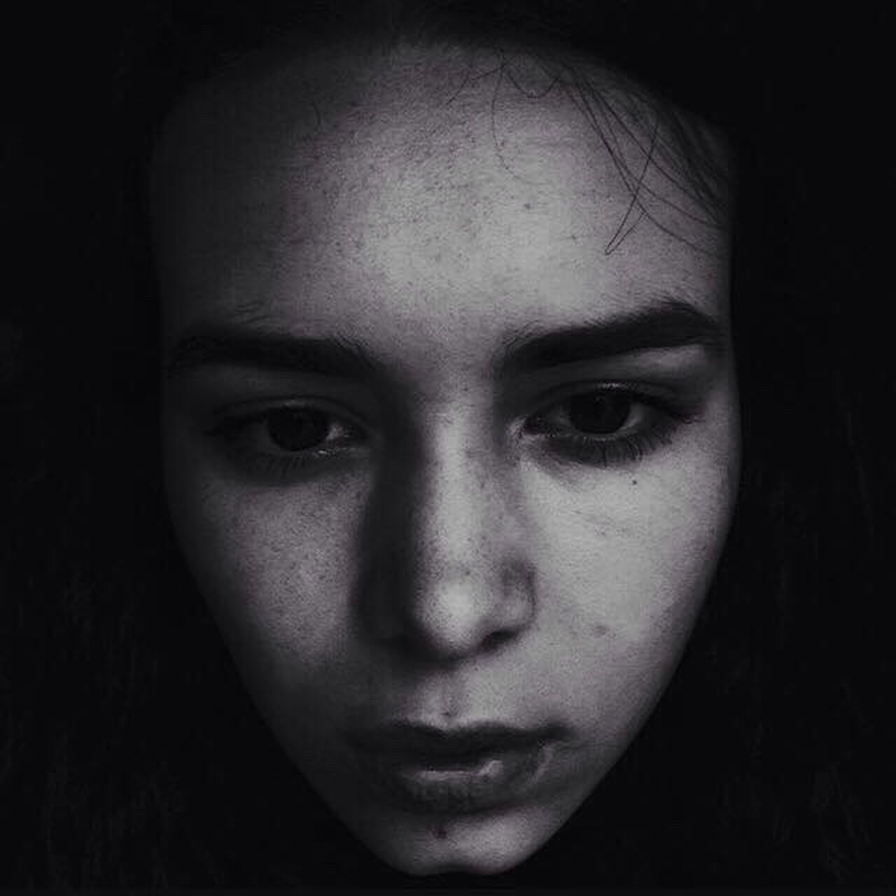 sadness, depression - sadness, looking at camera, human face, horror, one person, portrait, spooky, fear, close-up, only women, young adult, human eye, one woman only, adults only, one young woman only, adult, human body part, childhood, young women, women, real people, people, halloween, day