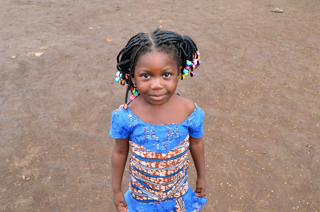 African African Beauty Child Childhood Happiness Portrait Togo