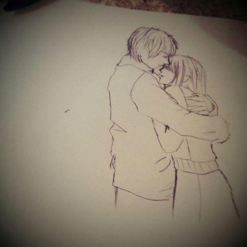 A random drawing I did when my lecturer wasn't in class. Drawing Art Love Boyfriendgirlfriend Sweet Relaxing