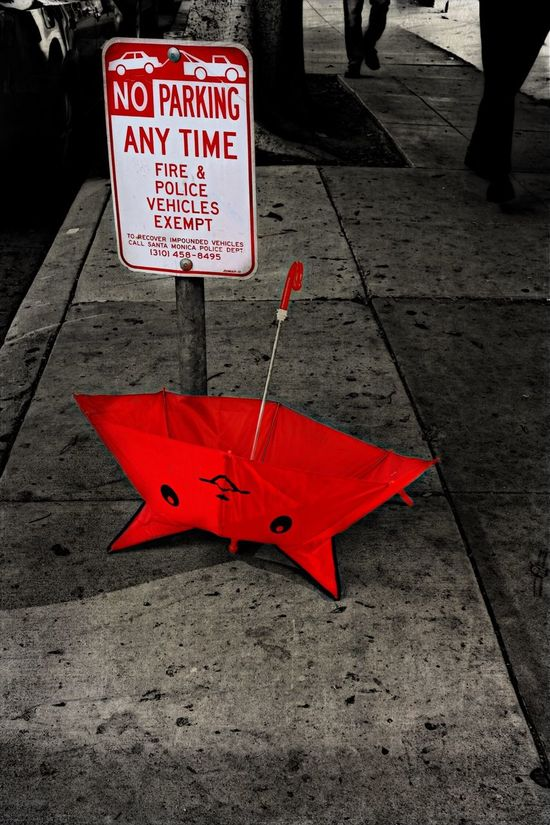 Kip The Wonder Umbrella violates Parking Rules And Regulations Rebel Red Umbrella Street Photography Streetphotography Streetphoto_color Sreetphotography