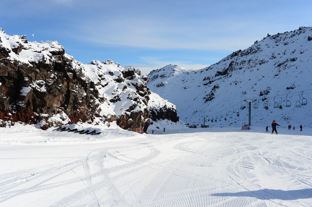 Ruapehu Skiing Ski Fields NZ Snow Snowing Traveling Nature Photography Freezing Snowcapped Mountain