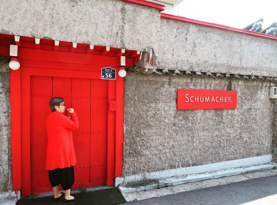 Red Gate Oldladyinred Bookchon Korean Village