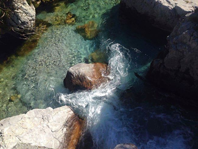 The crystal Clear waters of Valbona river in Northern Albania