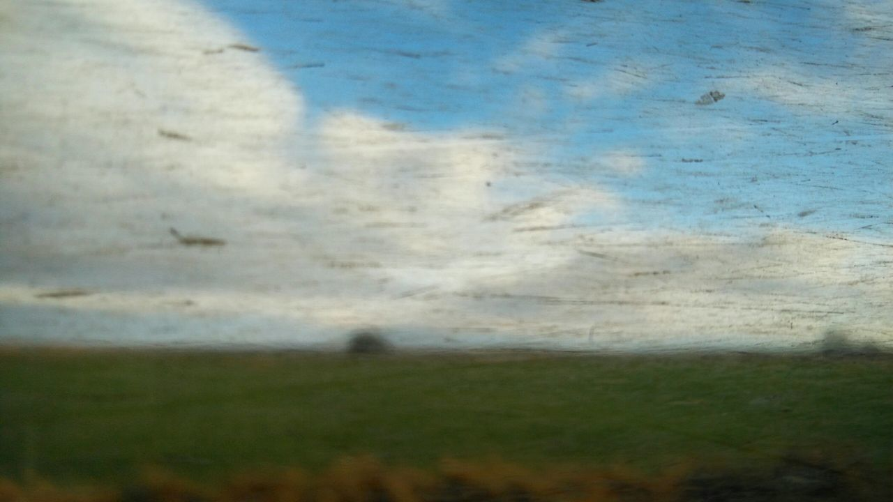 looking through the Train window. · germany Schleswig-Holstein looking through window train train ride Nature landscape window window glass dirt and scratches dirt Glitch Glitch experiment true colors