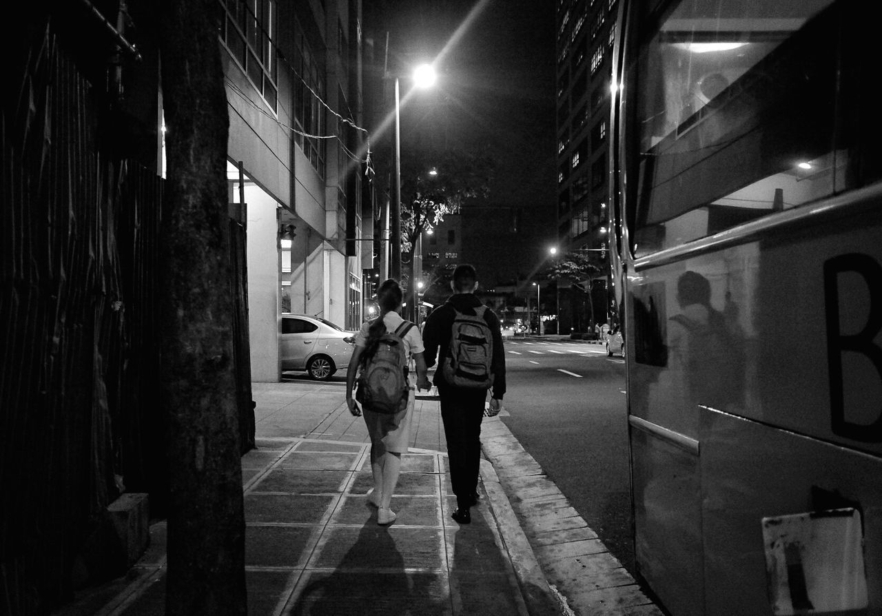 Night Street Bnw_collection Bnwphotography People Streetphotography City Street EyeEm Best Shots - Black + White First Eyeem Photo EyeEm EyeEmNewHere EyeEmNewHere