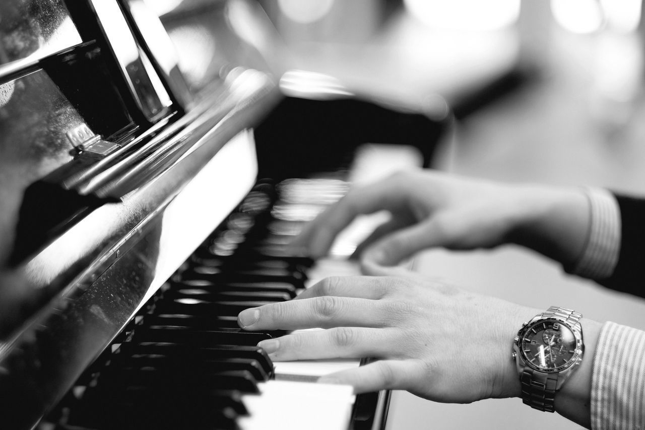 Piano Music Musical Instrument Piano Key Human Hand Playing Arts Culture And Entertainment Pianist Human Body Part Skill  Keyboard Instrument Indoors  Musical Equipment Close-up Musician Time Piano Moments Black And White Monochrome EyeEm Gallery Check This Out Popular Photos Watch in London , United Kingdom