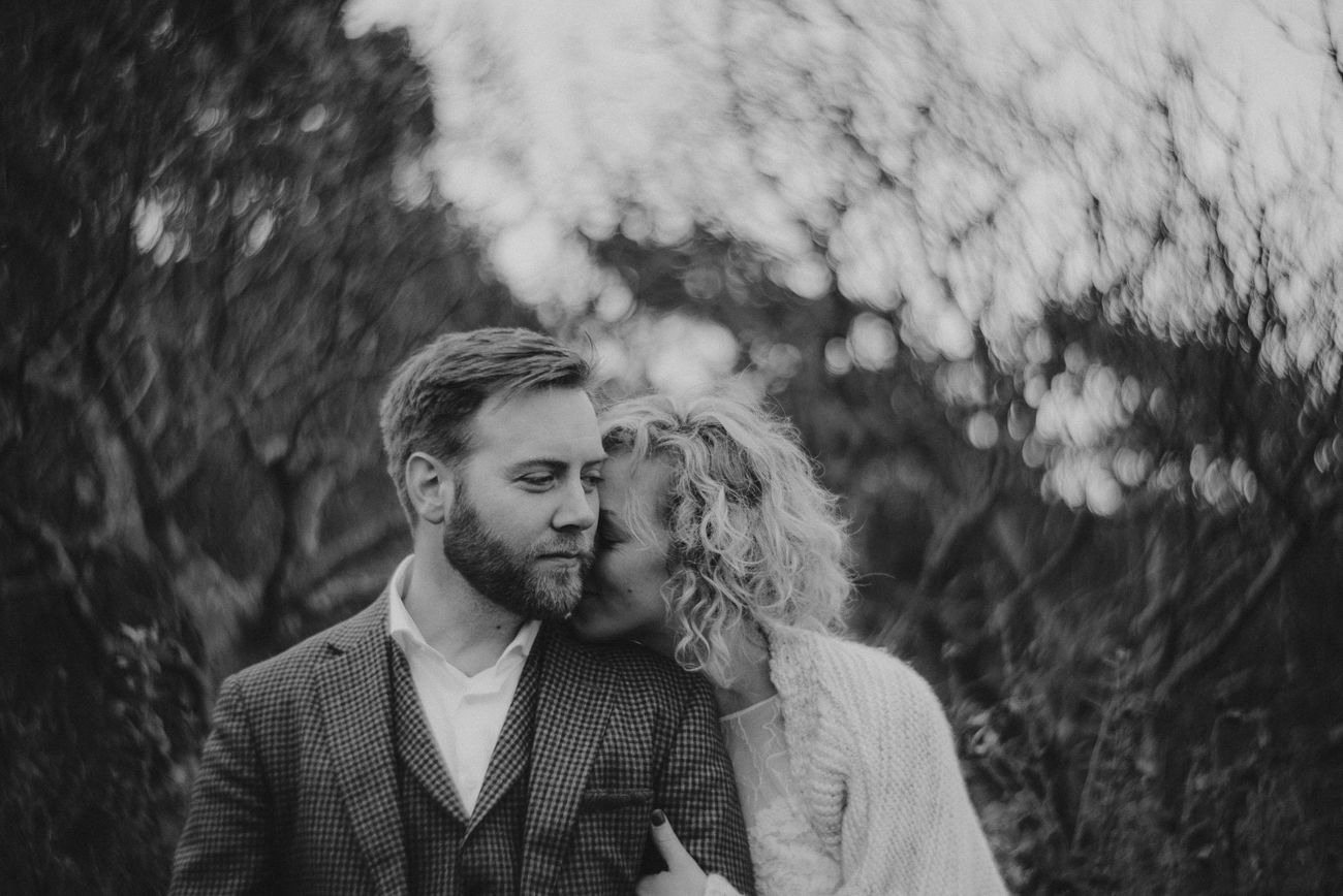 Bride & Groom Bohemian Wedding Petzval Lens Black & White PetzvalThe Portraitist - 2015 EyeEm Awards