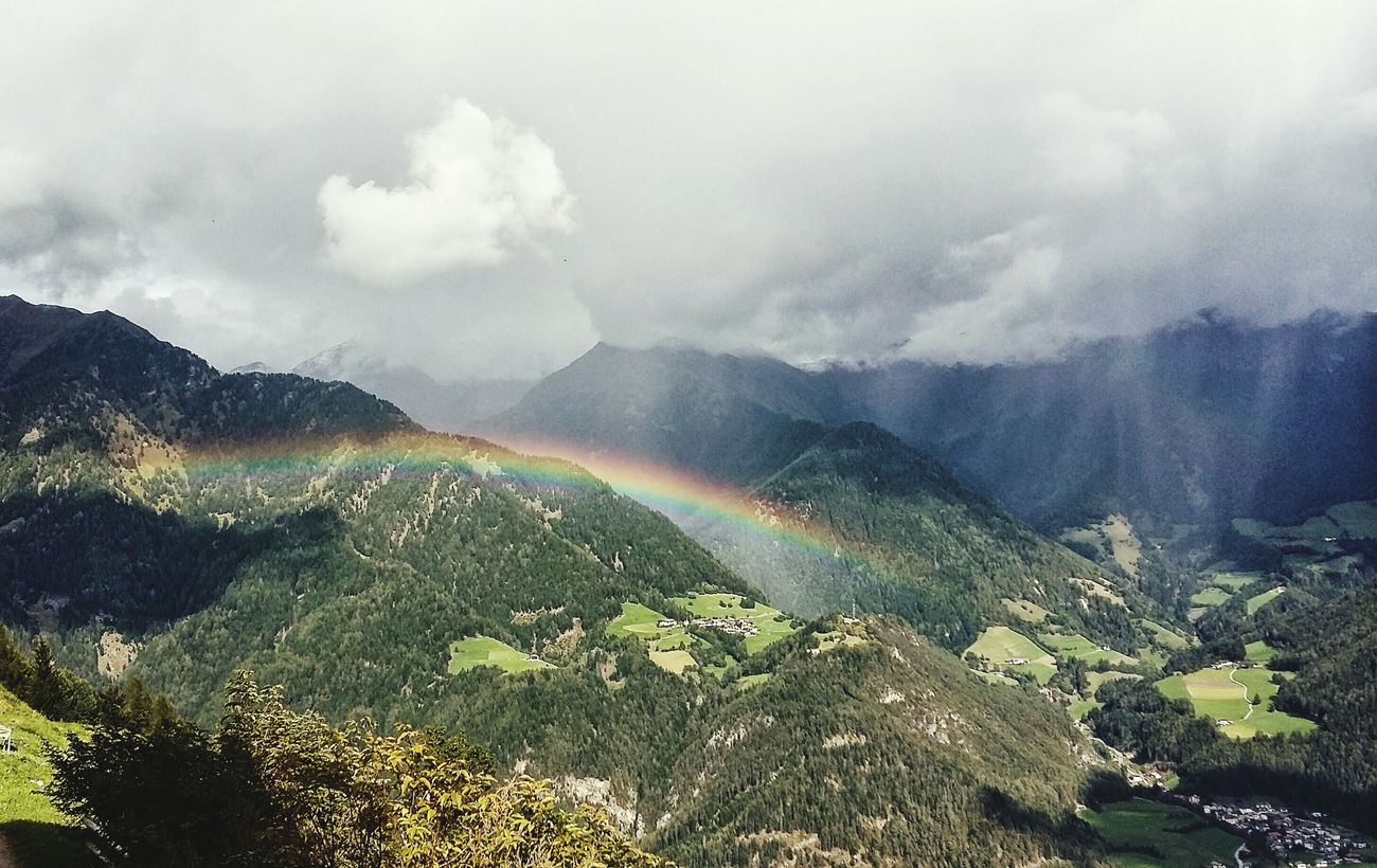 Cloud - Sky Rainbow Beauty In Nature Clouds And Sky Fresh On Eyeem  Great View Hiking❤ Alps Landscape Somewhere Over The Rainbow Finding New Frontiers