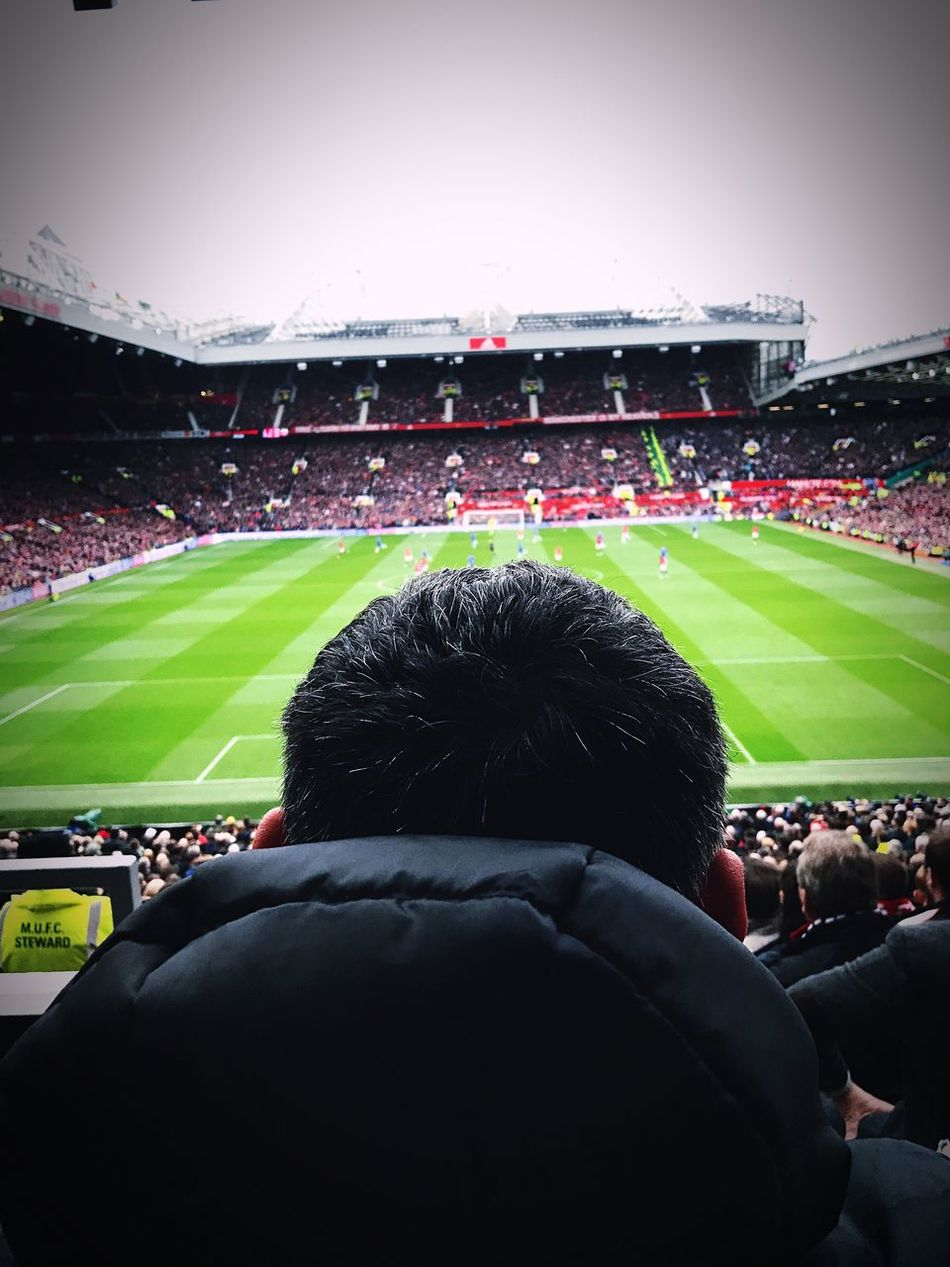 Football without fan is nothing. Manchesterunited Chelsea 19april Stadium Old Trafford Sport Soccer Crowd Cheering Team Sport Athlete Rainy Days Fan - Enthusiast Glory Real People Grass People