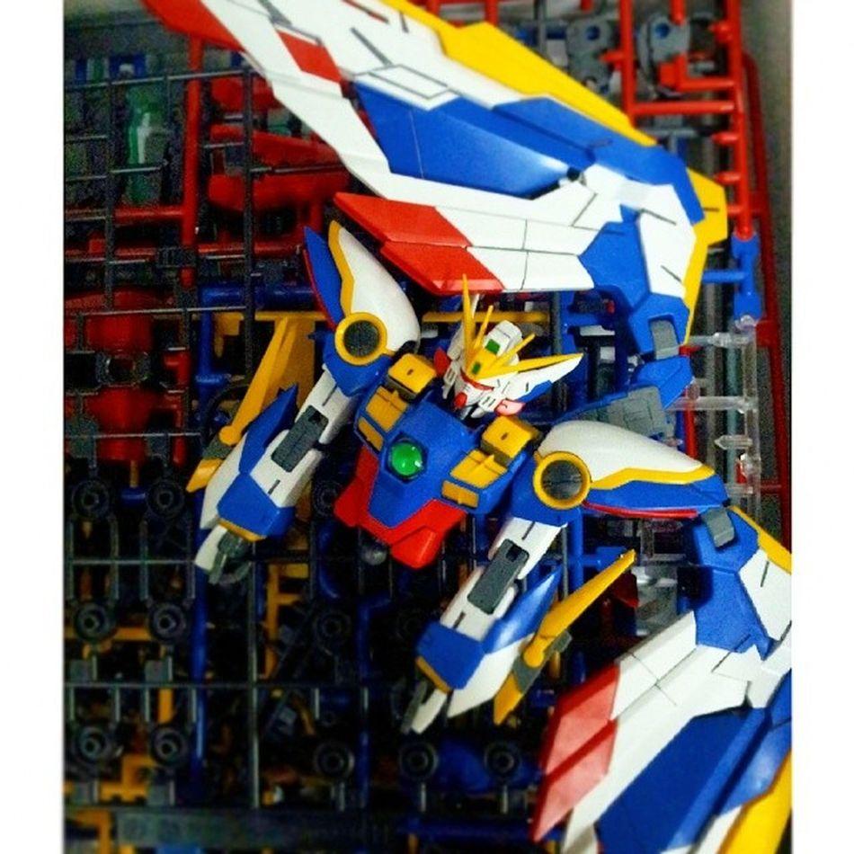 Half body and wing done... wait and see will i finish this project before my long weekend gone... Gundam Gunpla Gundamwing Endlesswaltz Gundam_ig Gunplacommunity PLAMO BANDAI Hobby
