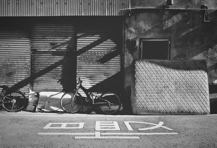 B&w Street Photography Streetphotography Streetphoto_bw Monochrome Blackandwhite Bycicle Monochrome Photography Melancholic Landscapes LandscapeLight And Shadow Darkness And Light Up Close Street Photography Eye4photography  壁萌 2015.11.30 Taichung, Taiwan 蔦裊裊