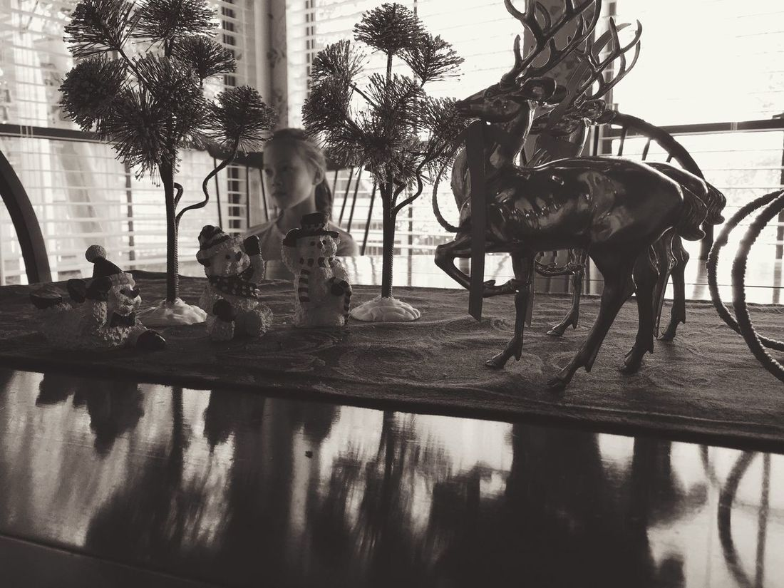 Family IPSXmas Iphoneonly Reflection Silhouette Light And Shadow Blackandwhite Black & White Monochrome Black And White