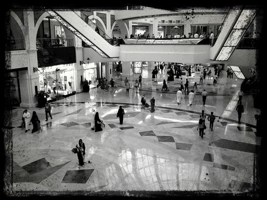People watching at The Dubai Mall by FatmaAlSarraf.