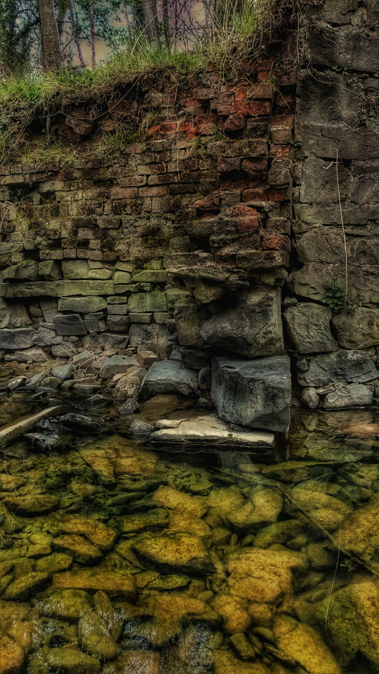 Check This Out For My Friends That Connect Brick Rocks Stone And Water Brickporn EyeEm_abandonment EyeEm Best Shots Stones & Water When Nature Takes Over Times Past Riverside Wales You Beauty Walking Around Stream Woodlandwalks Building On Ruins Ruined Building Ages Past Old Buildings Newtown