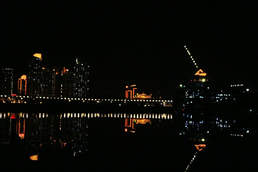 Reflection Night Water Outdoors No People Illuminated Architecture City Sky