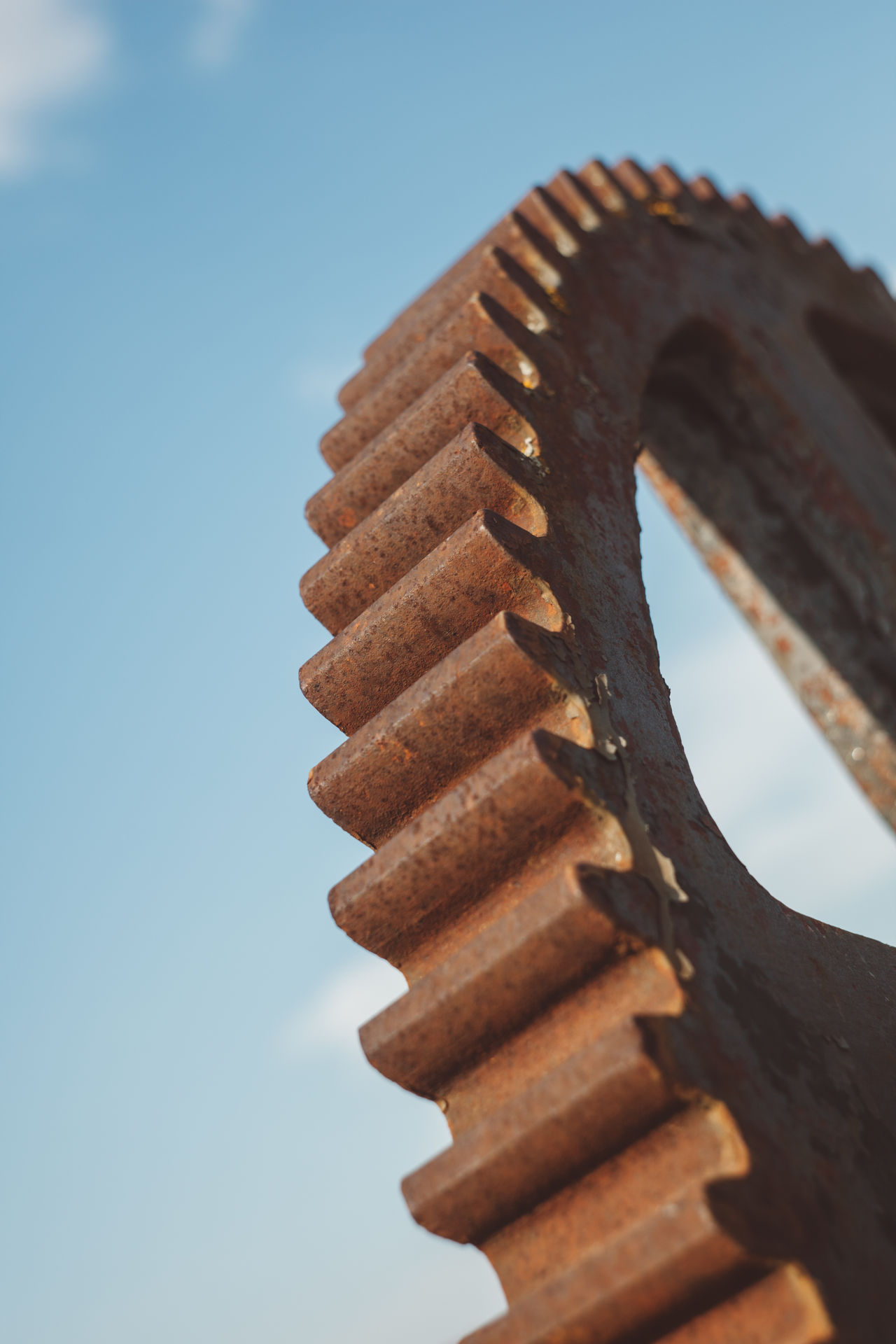 Close-up Day Factory Gear Industrial Industry No People Outdoors Pinion-rack Rack Sky Spiral