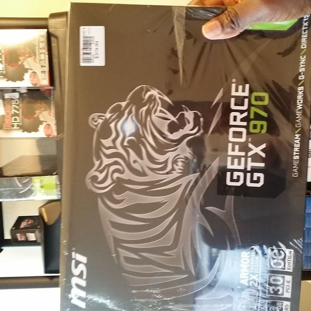 Got some MSI gtx 970 models in today they are scarce out there but I got some Gtx970 Nvidia Gaming Gamers gamingcomputer gamingpc msi pcgaming videocard computer