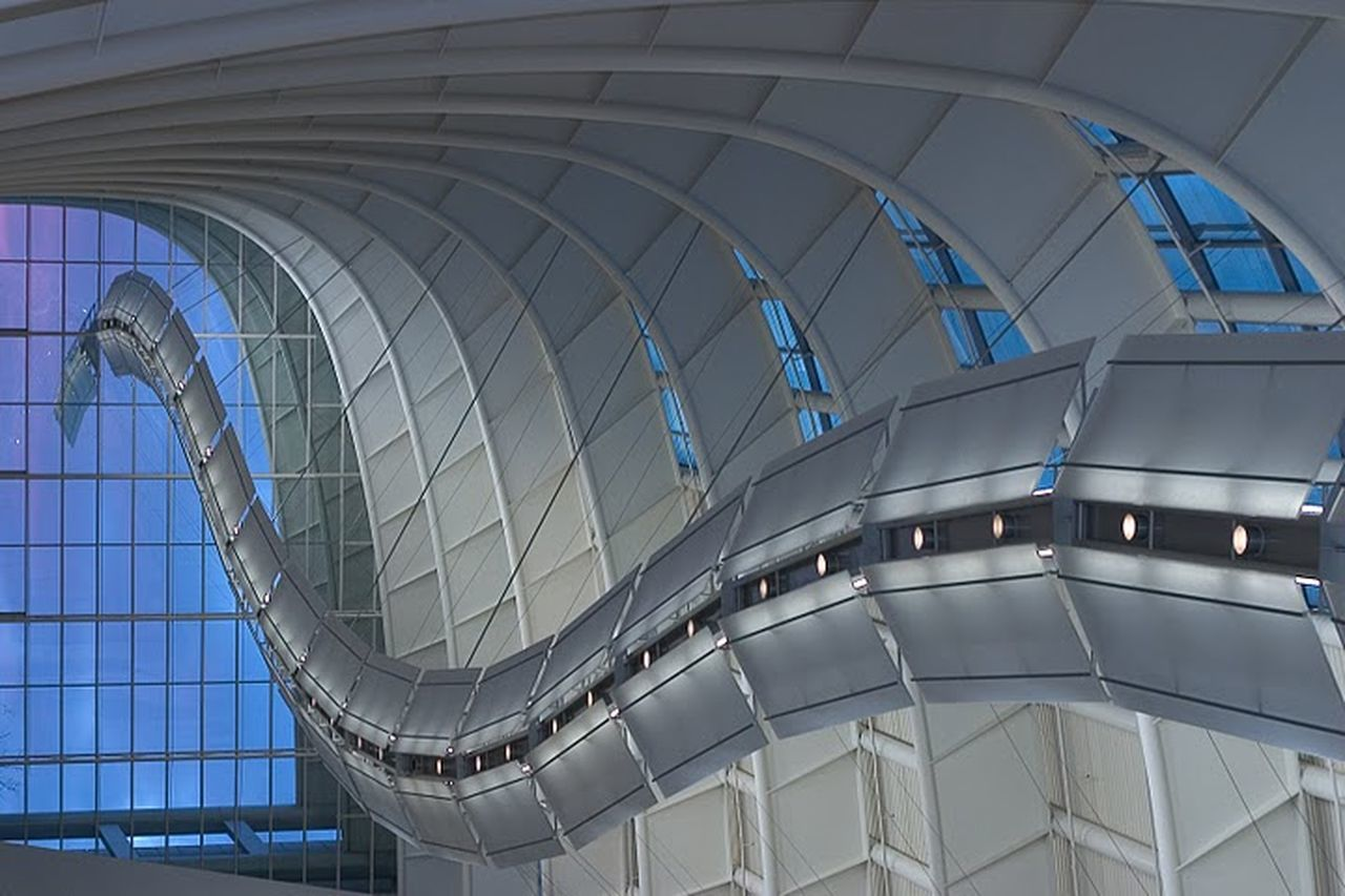 architecture, built structure, modern, indoors, curve, futuristic, no people, day