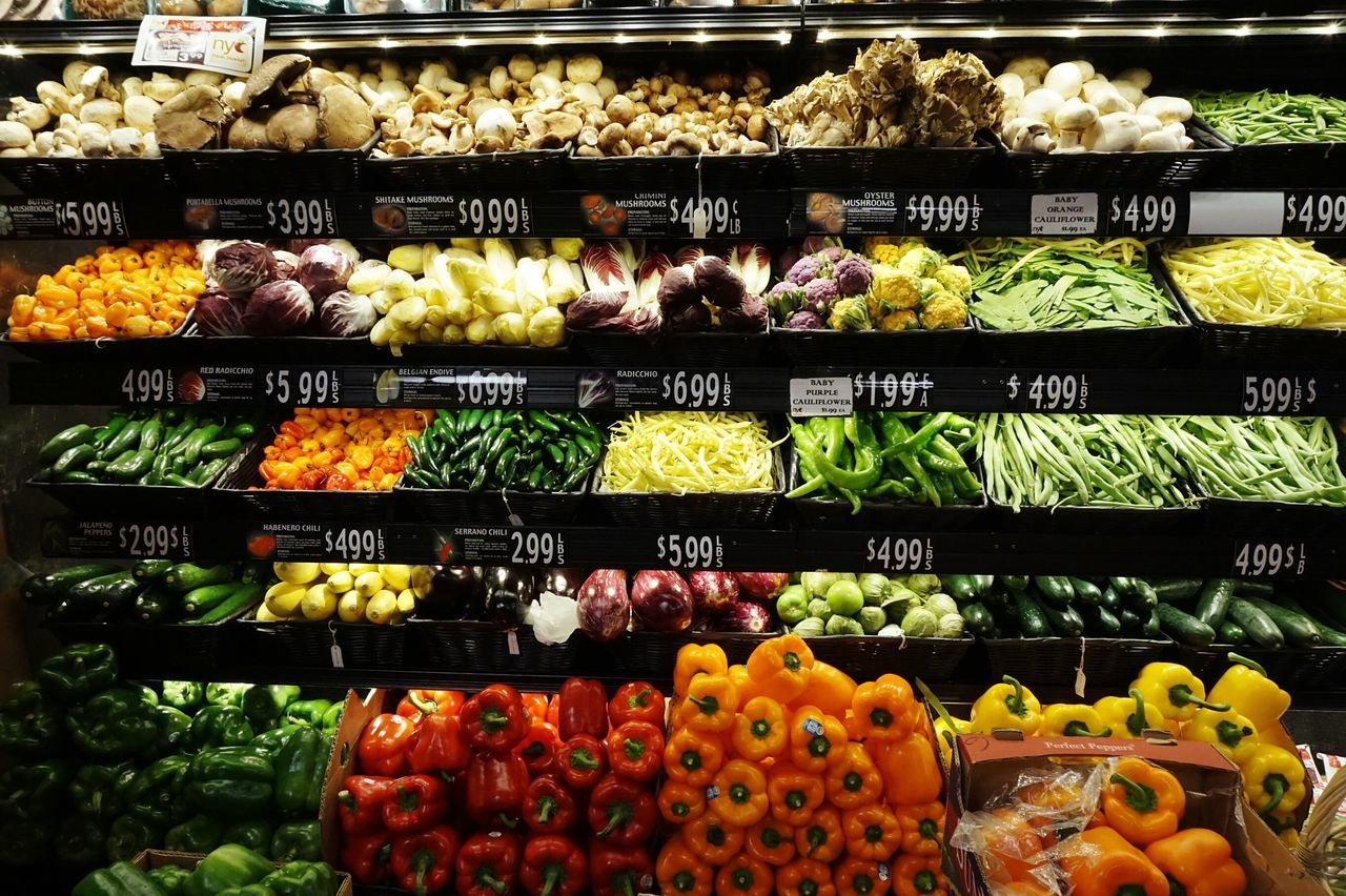 Abundance Supermarket Vegetables In A Row For Sale No People Colorful Food Variation Fresh Produce Fresh Products Foodphotography Price Tag Collection Of Objects Unedited EyeEm Diversity Art Is Everywhere Visual Feast