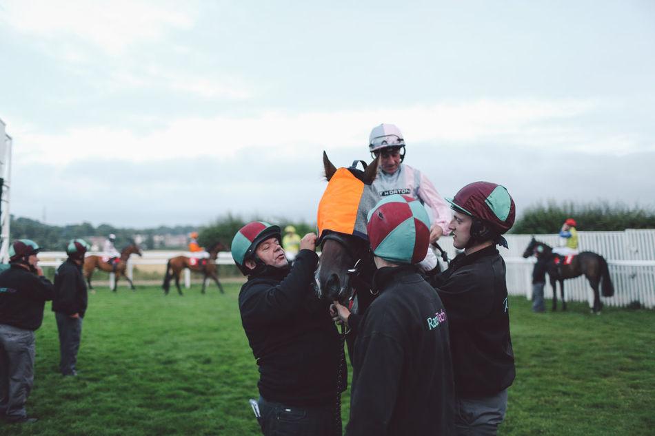 Beautiful stock photos of pferde, real people, large group of people, men, sky