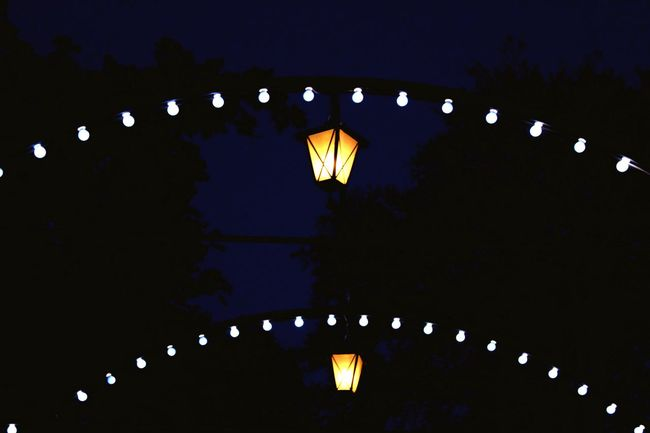 Lanterns.. Lighting Equipment Low Angle View Night Electricity  Hanging Electric Light Lantern Decoration Dark Light Arch Sky No People