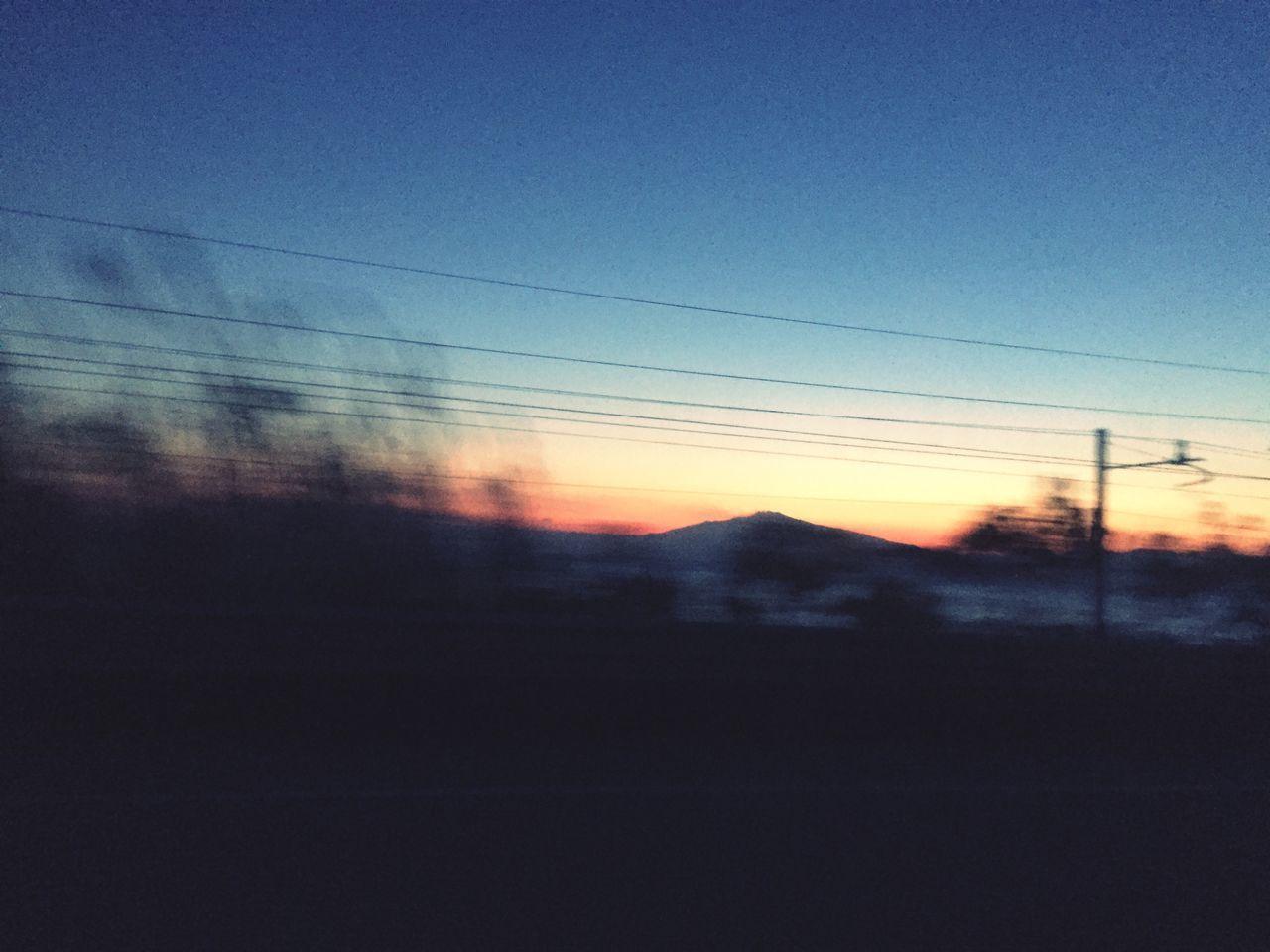 Sky Mountain Window Sunset