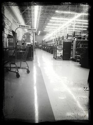 Waiting at Walmart Supercenter by Onkel Art