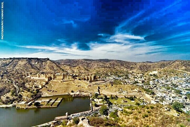 Top Viewof the Famous Amer Fort Jaipur Rajasthan Incredible India Sky_collection EyeEm Landscape Historical Building Thegreatoutdoorswithadobe