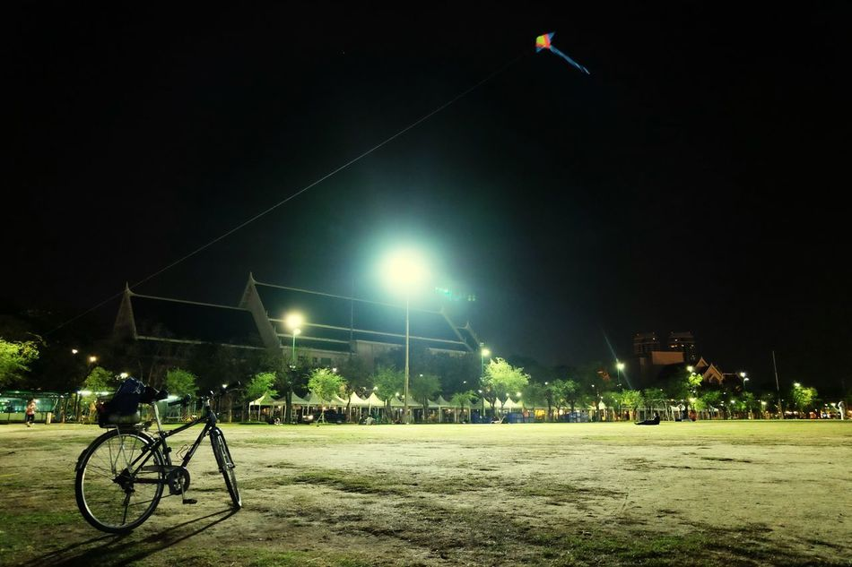 Night Bicycle Outdoors No People Cityscape Travel Destinations Sky