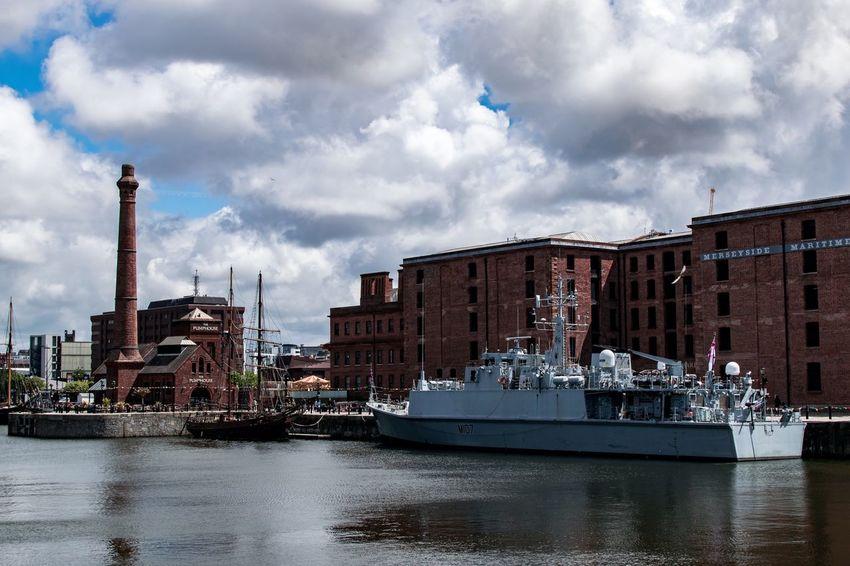 Albert Dock Liverpool Docks Buildings & Sky Liverpool, England Liverpool Waterfront Liverpool Old Dock Albert Docks Clouds Sky And Clouds Royal Navy