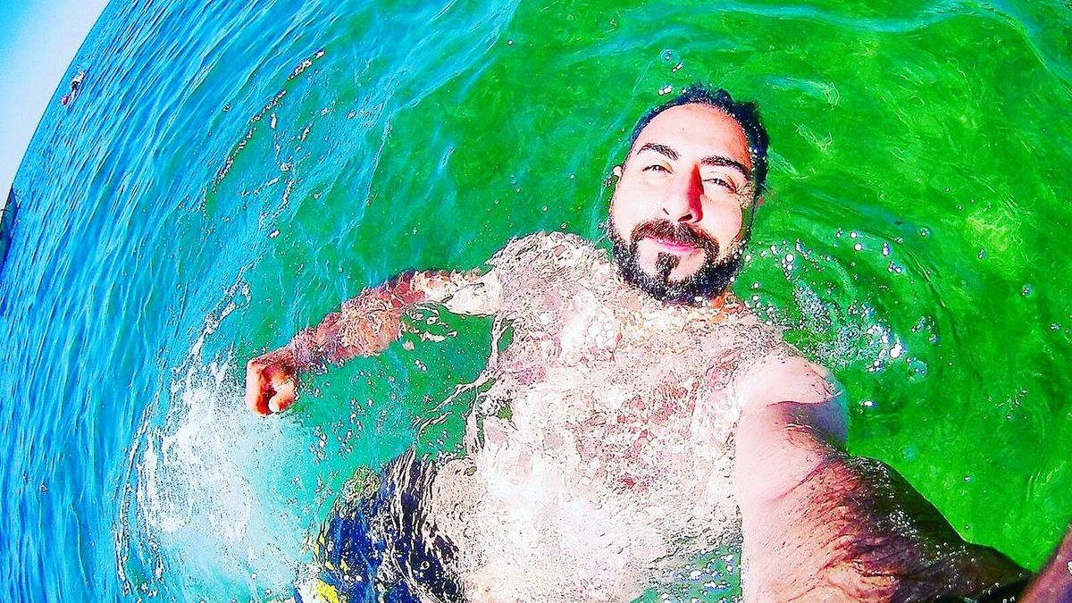 Water Sea Swimming One Man Only Young Adult Relaxation Day Outdoors Underwater