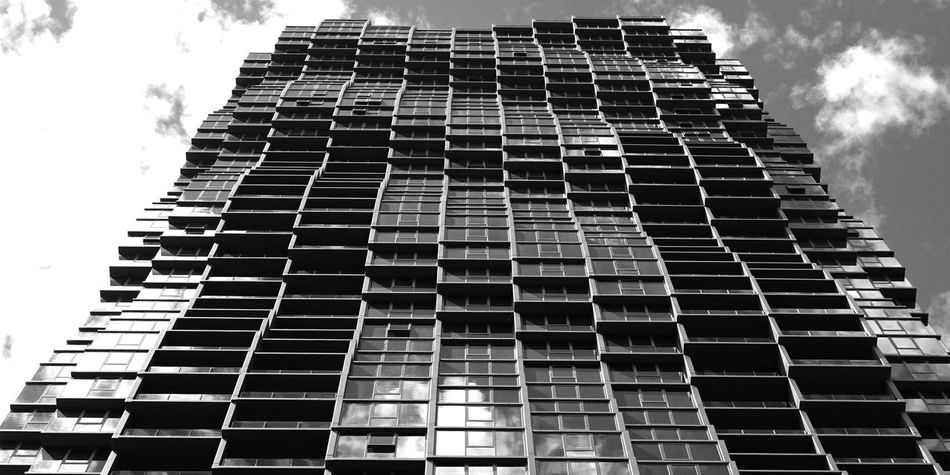 Warp Pattern Building Melbourne Shot In High Contrast Black & White With Sky, Clouds & Reflections In Windows Architecture Black Black & White Black And White Building Clouds Contrast High Contrast High Contrast Bnw Melbourne Monochrome Monochrome Photography Monocosm Office Building Pattern Perspective Reflections Sky Sky Scraper Skyscraper Texture Tower Warp Warped  Windows First Eyeem Photo