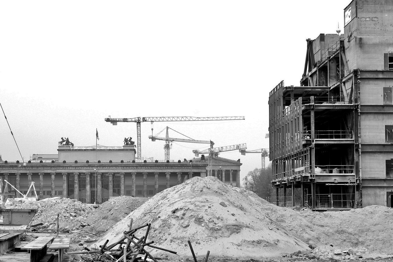 2008 Architecture Berlin Building Exterior Built Structure City Clear Sky Cold Temperature Construction Site Day Mitte No People Outdoors Palast Der Republik Pdr S/w Trzoska Winter