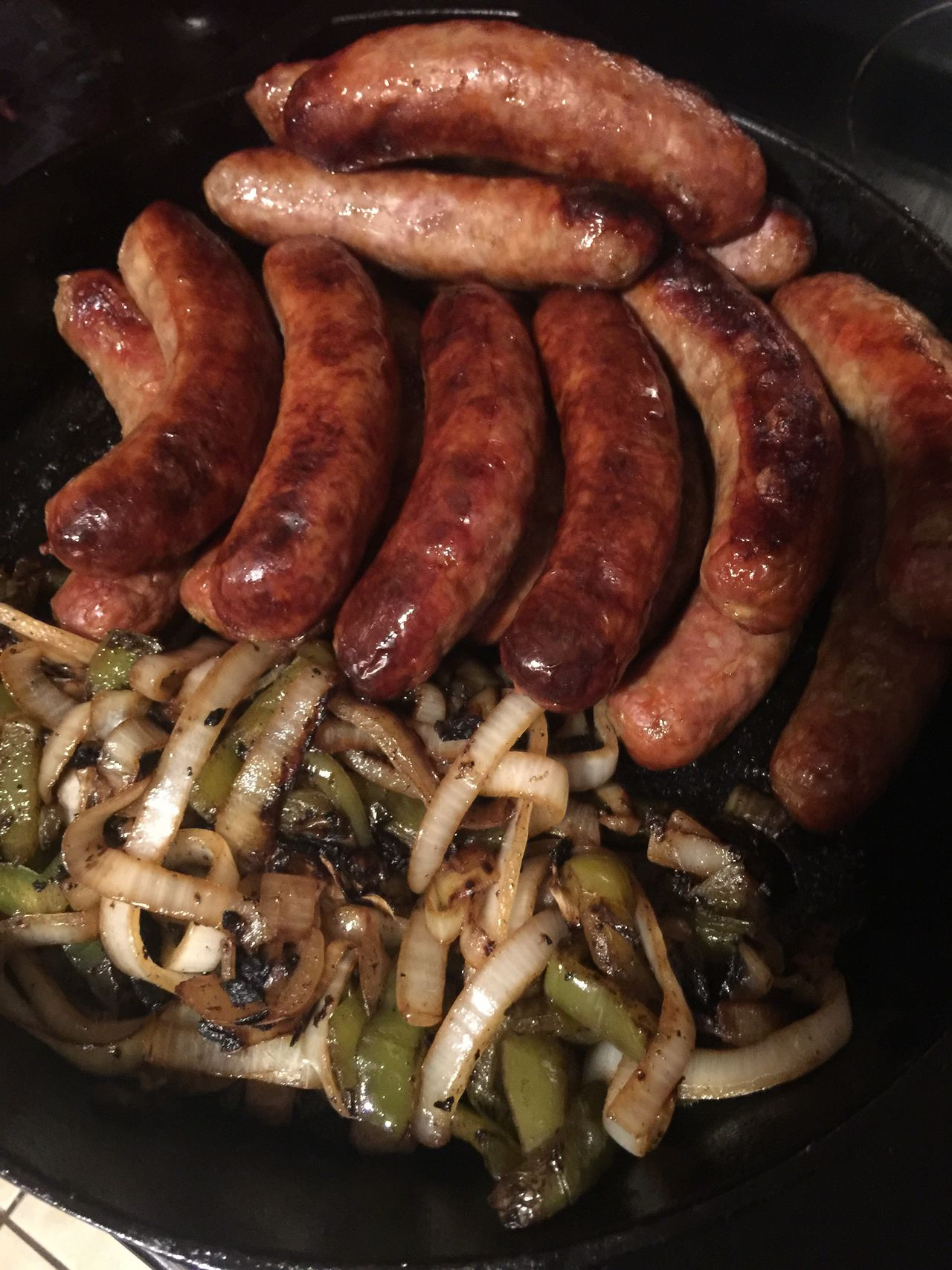 Brats Iron Skillet Cooking