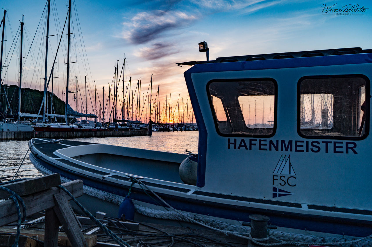 sky, transportation, mode of transport, cloud - sky, outdoors, sunset, nautical vessel, day, nature, no people, water, close-up