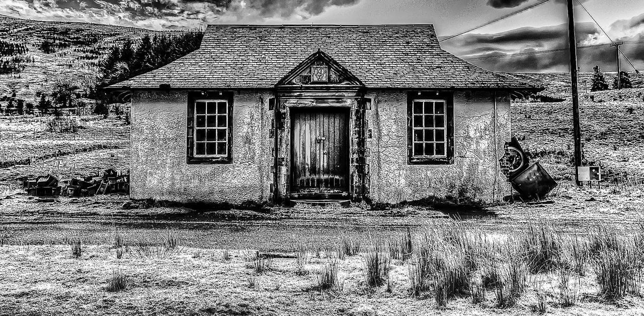 Architecture Built Structure Field Hdrphotography House Old Rural Scene Sky Tonemapping Window
