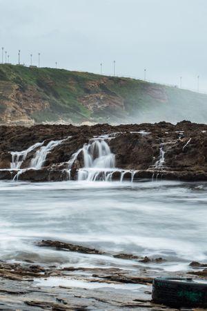 Sea Seaside Seascape Rock Slow Shutter Water Water_collection Waterfall Storm Wind Shore Waves Winter Fog Foggy