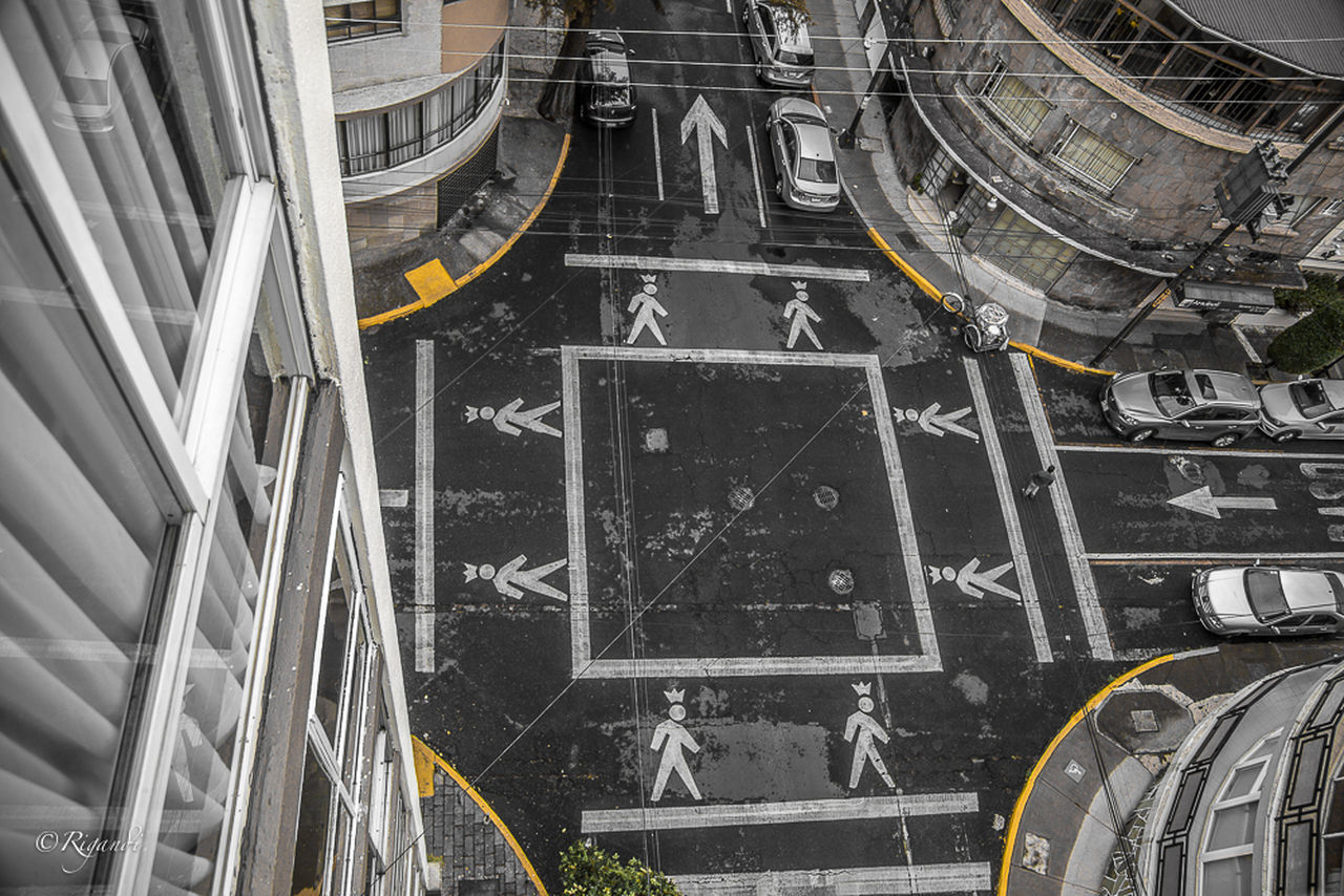 """street crossing at Sugar Street, """" for kings only """" Architecture Day No People Outdoors Street Crossing Transportation Urban Geometry Urban Lansdcape"""