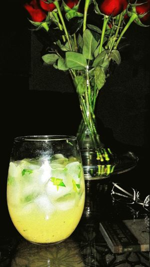A fresh made, no mix, Margarita with cilantro muddled in with the limes.Muddled Margaroses Drinks