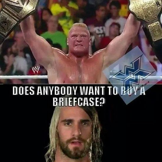 If you know what i mean. Poor Rollins. ???? Summerslam Poorrollins BrockLesner is champ. Wwememes wwe