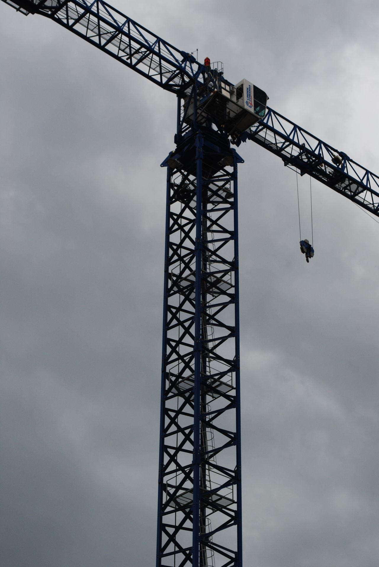 Clouds Sky, Crane, Construction