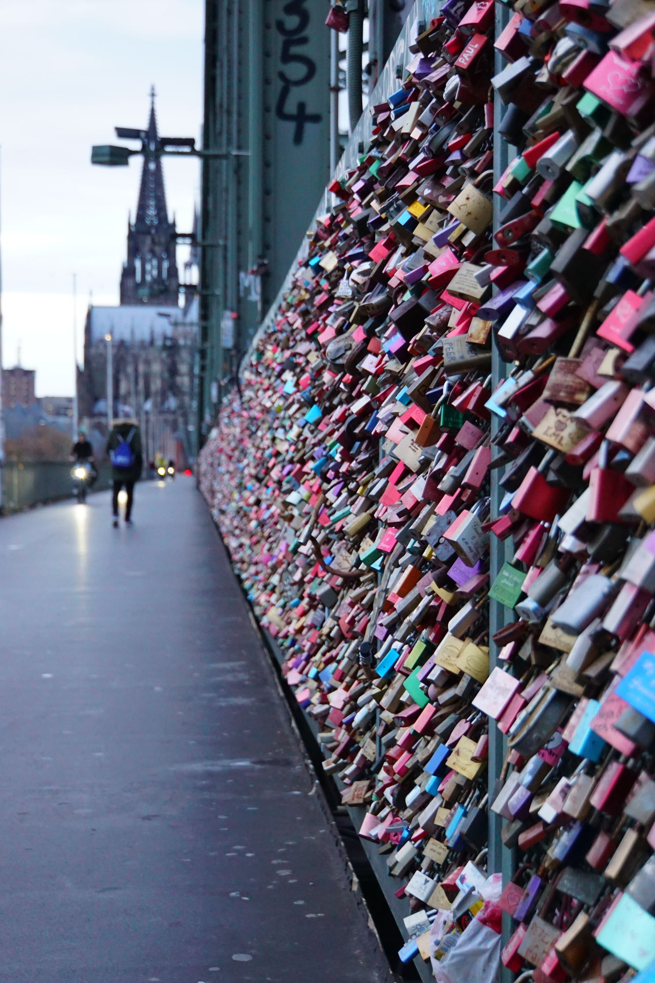 Architecture Bridge - Man Made Structure Built Structure City Day Large Group Of Objects Lock Love Lock Outdoors Padlock People Real People Sky The Way Forward Transportation