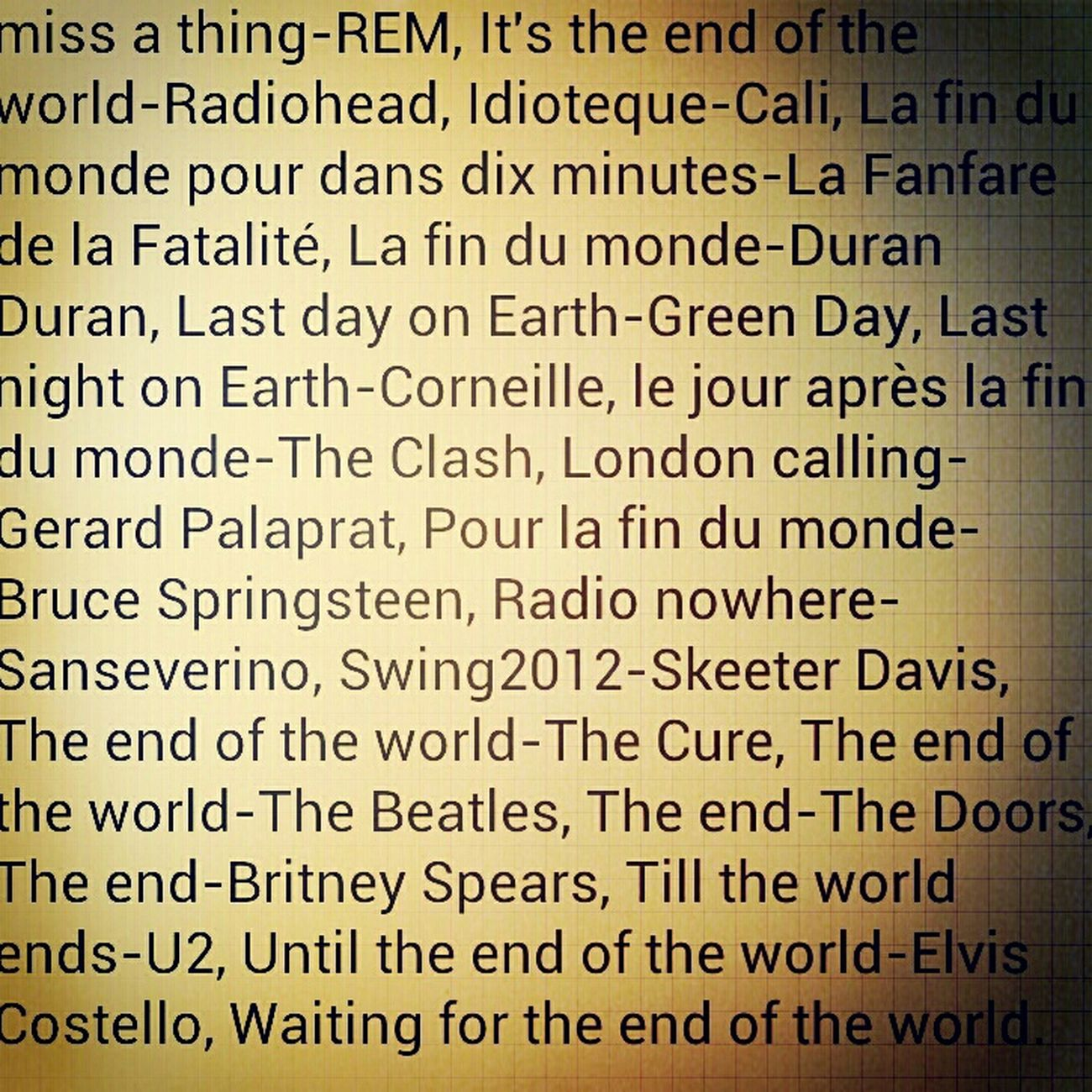 #playlist #endoftheworld Music Listening To Music Playlist Endoftheworld