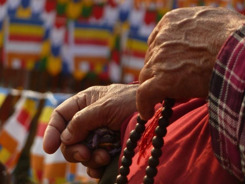 Pray India Buddhism Praying Hands Praying For World Peace Hands Focus On Foreground Real People Human Hand Human Body Part Lifestyles Religion One Person Men Close-up Outdoors People Day