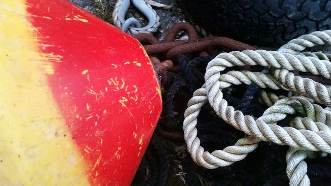 Ireland Red Close-up Rope Bouy Boating Summer Natural Light Photo Yellow