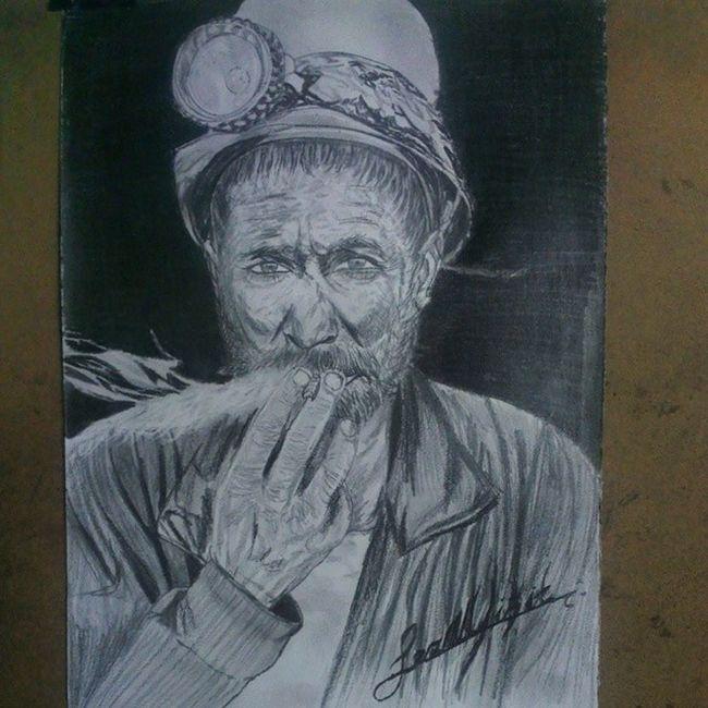 Maden Madenci Soma Manisa  unutmaunutturma karakalem sketch dese drawings draw art cizim karalama isci as ekmek kavga