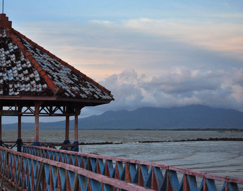travel destination in central java, indonesia INDONESIA Travel Travel Photography Architecture Beach Beauty In Nature Central Java Cloud - Sky Landscape Landscape_photography Nature No People Outdoors Rembang Sea Sunset