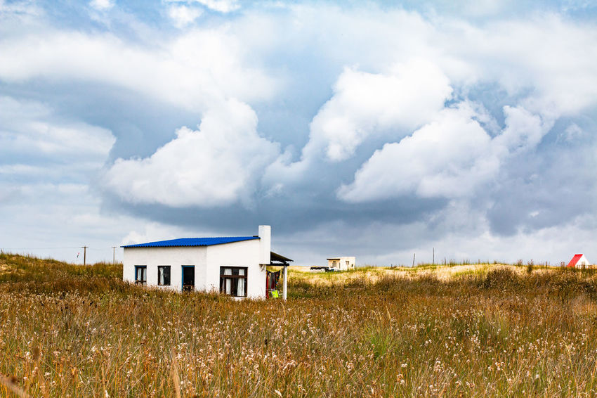 House in Cabo Polonio Cabo Polonio Cloudy Grass House Landscape Rocha Sky White House