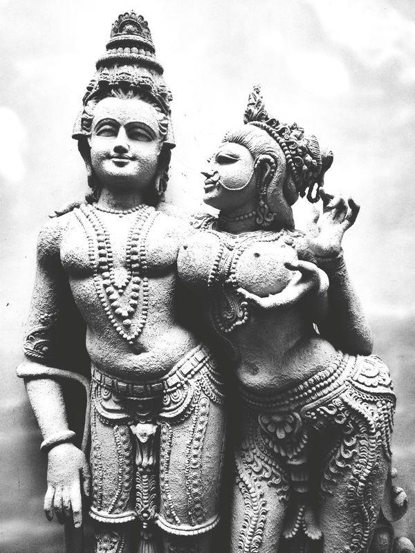 Shiva parvati Sculpture Monochrome Classic Elegance Divine Beauty Incredible India Kamasutra